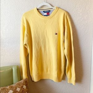 Vintage Yellow Tommy Hilfiger crewneck sweater